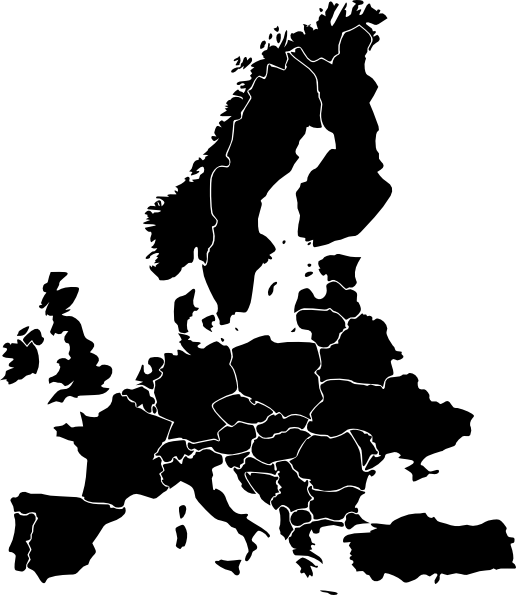 vector illustration of europe - photo #45