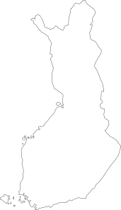 free vector Map Of Finland clip art