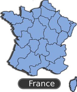 free vector Map Of France clip art