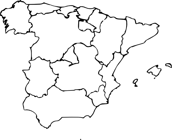 ... Map Of Spain clip art