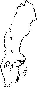 free vector Map Of Sweden clip art