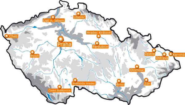 free vector Map Of The Czech Republic clip art