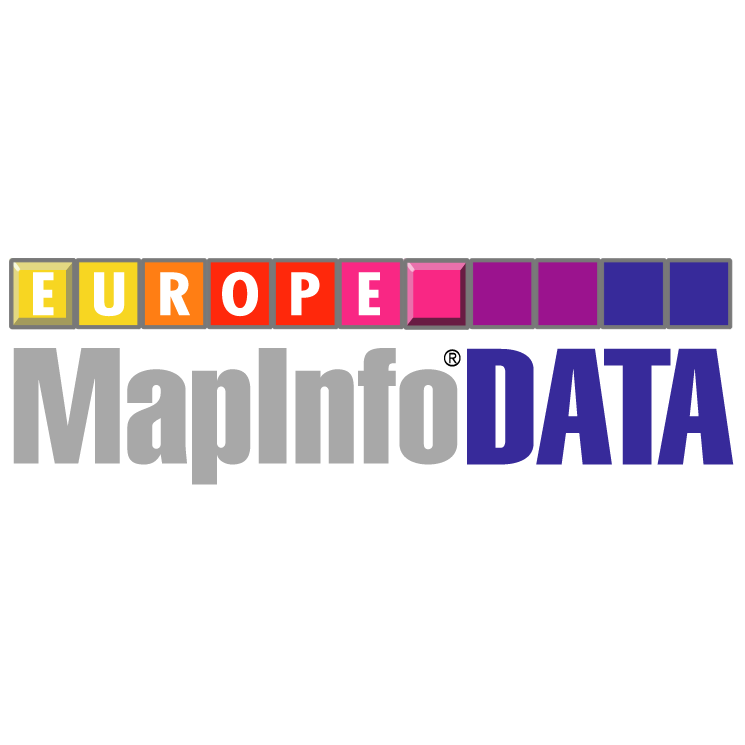 free vector Mapinfo data europe