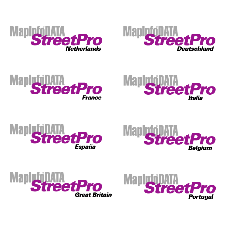 free vector Mapinfo data streetpro