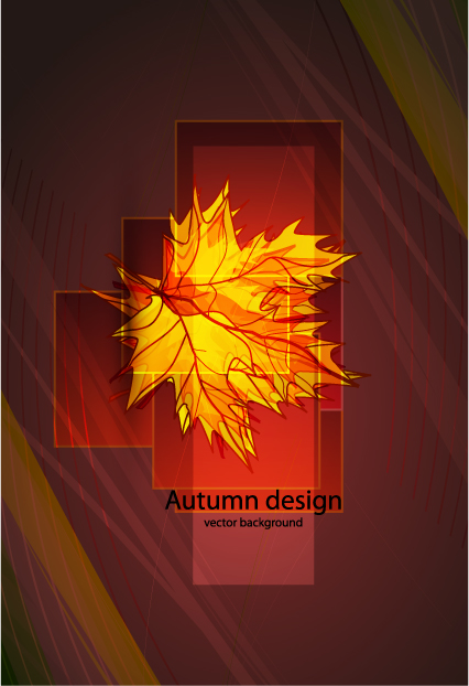 free vector Maple leaf vector glare