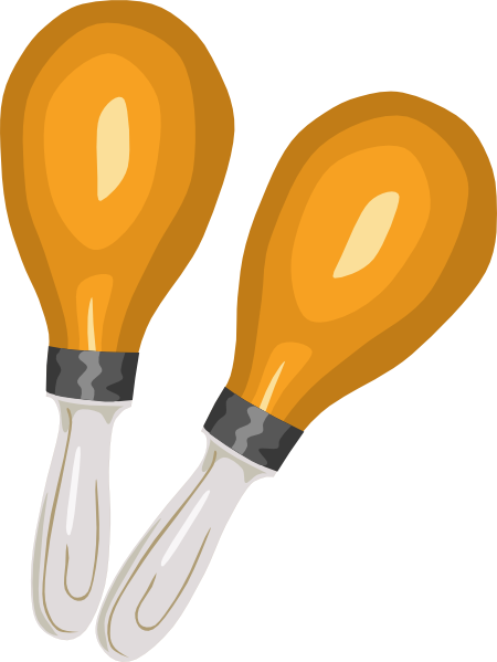 free vector Maracas Rumba Shakers clip art