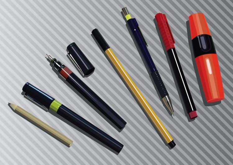 free vector Marker, Pencil & Pen Graphics