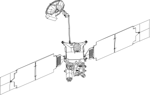free vector Mars Global Surveyor clip art