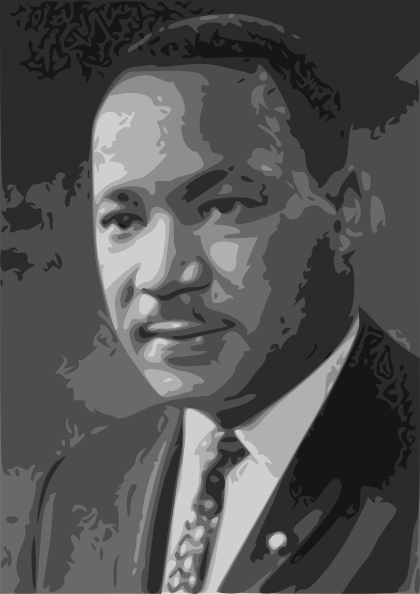 free vector Martin Luther King Jr. clip art