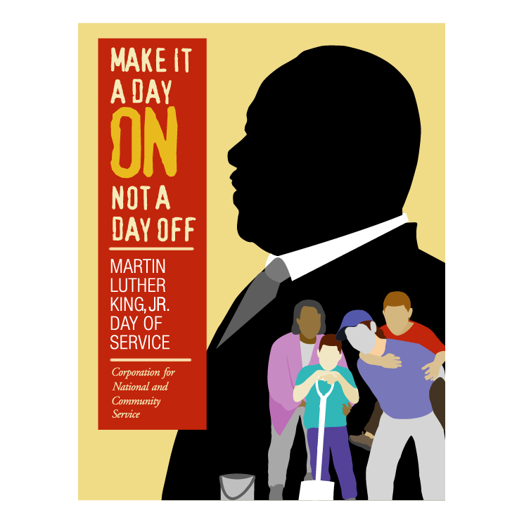 free vector Martin luther king jr day of service
