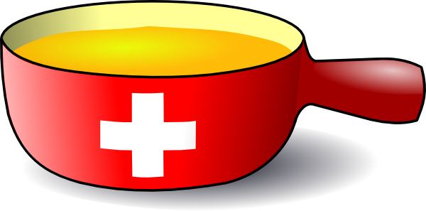 free vector Martouf Swiss Caquelon Fondue clip art