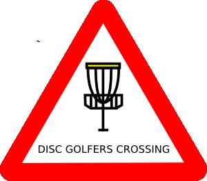 free vector Mat Cutler Disc Golf Roadsign clip art