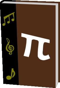free vector Math Music Textbook clip art