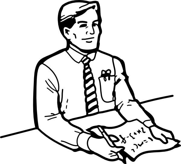 free vector Mathematician Scientist clip art