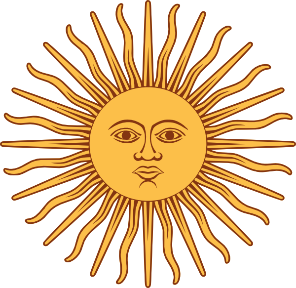 free vector May Sun From Argentina Flag clip art