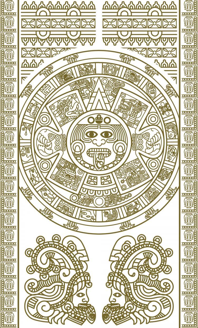 free vector Mayan patterns 02 vector
