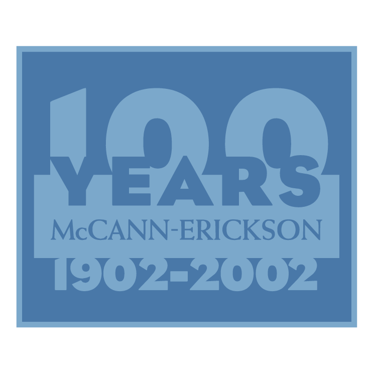 free vector Mccann erickson 100 years