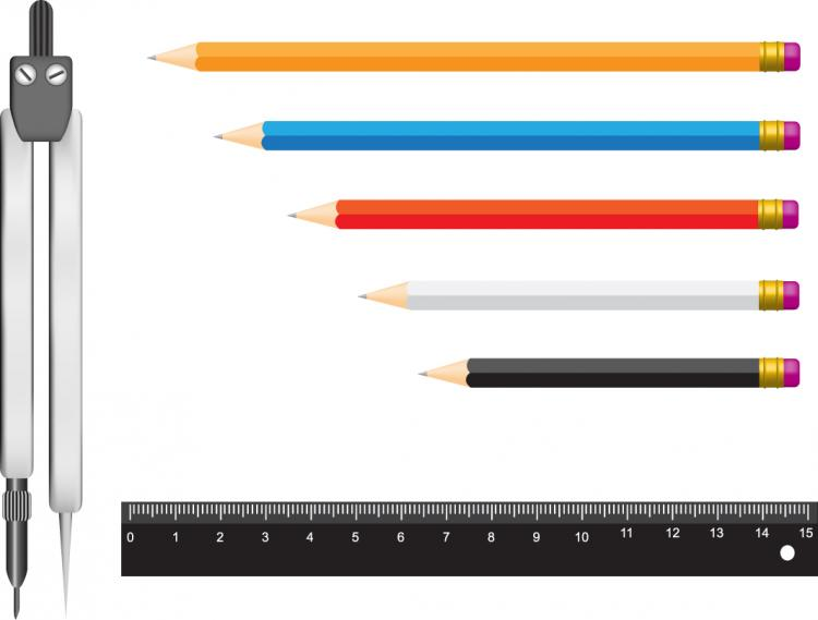 free vector Measurement stationery vector
