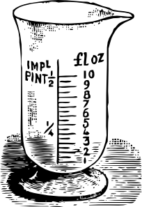 free vector Measuring Glass clip art