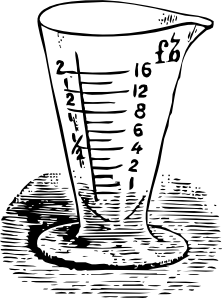 free vector Measuring Glass In Drams clip art