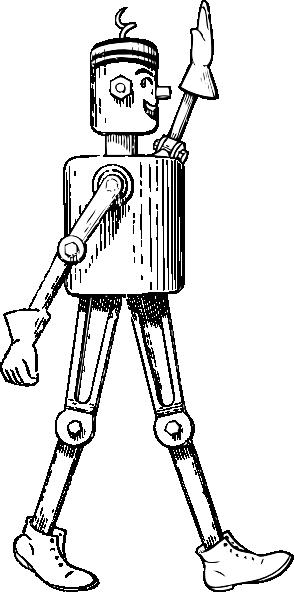 free vector Mechanical Man Side View clip art