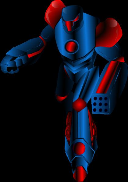 free vector Mechanical Warrior Transformer clip art