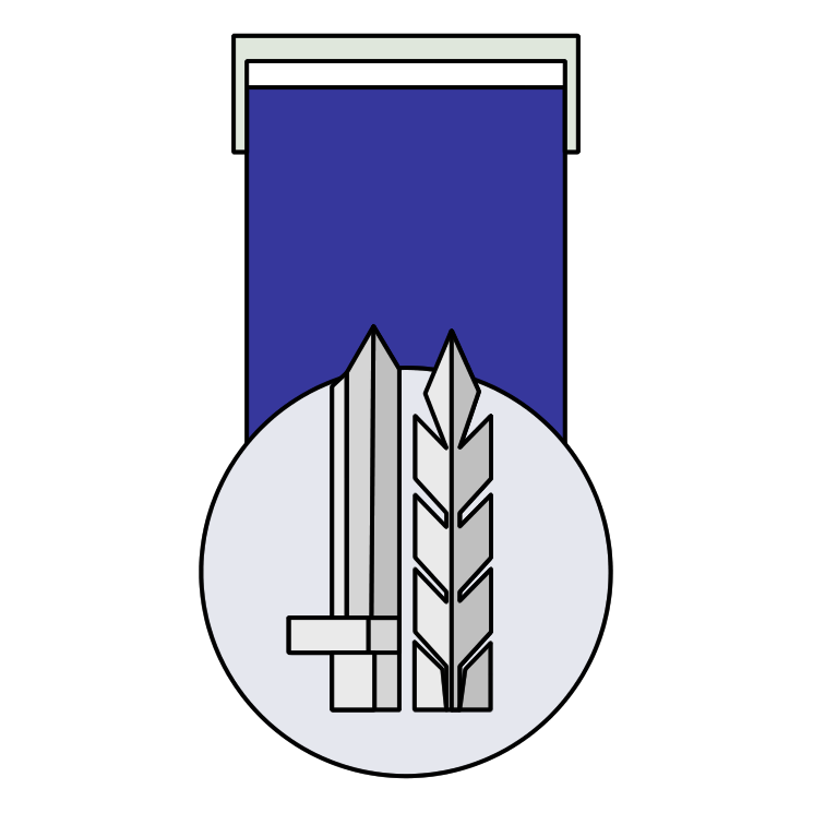 free vector Medal for distinguished service