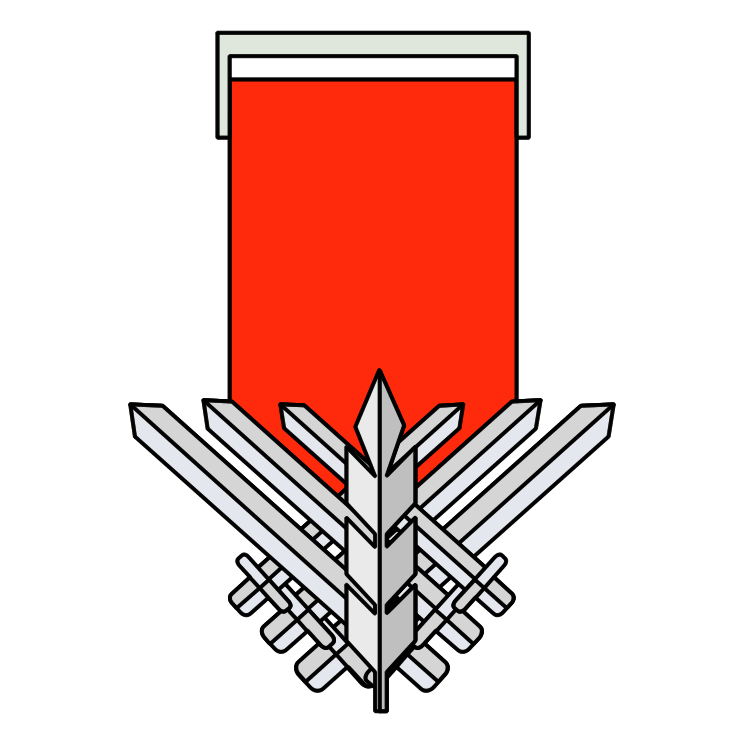 free vector Medal of courage