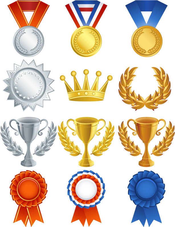 free vector Medals medal trophy vector