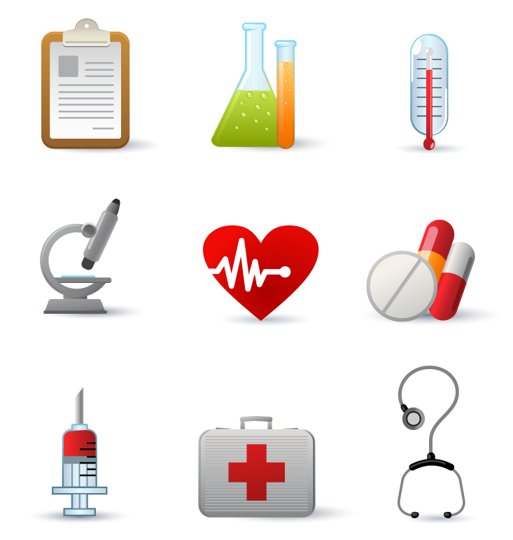 free vector Medical equipment icon vector