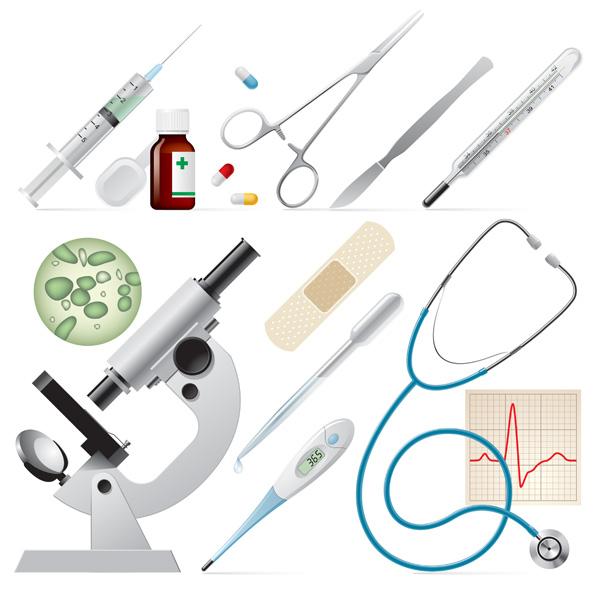 free vector Medical supplies icon vector