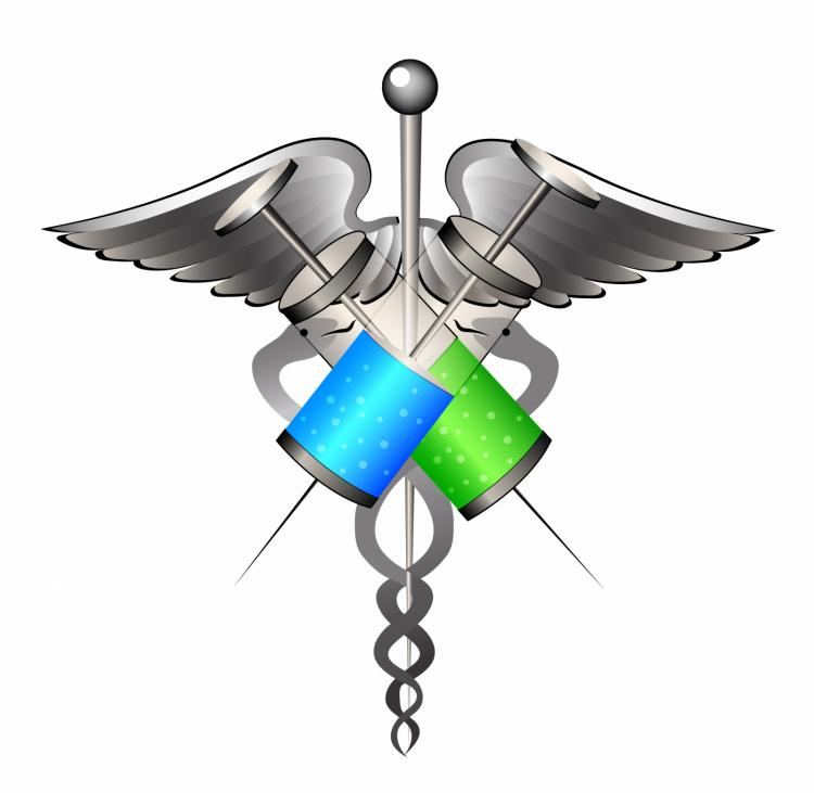 free vector Medical symbol with syringes