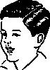 free vector Medium Haircut With Side Part clip art