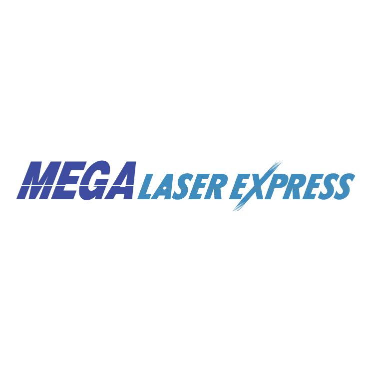 free vector Mega laser express
