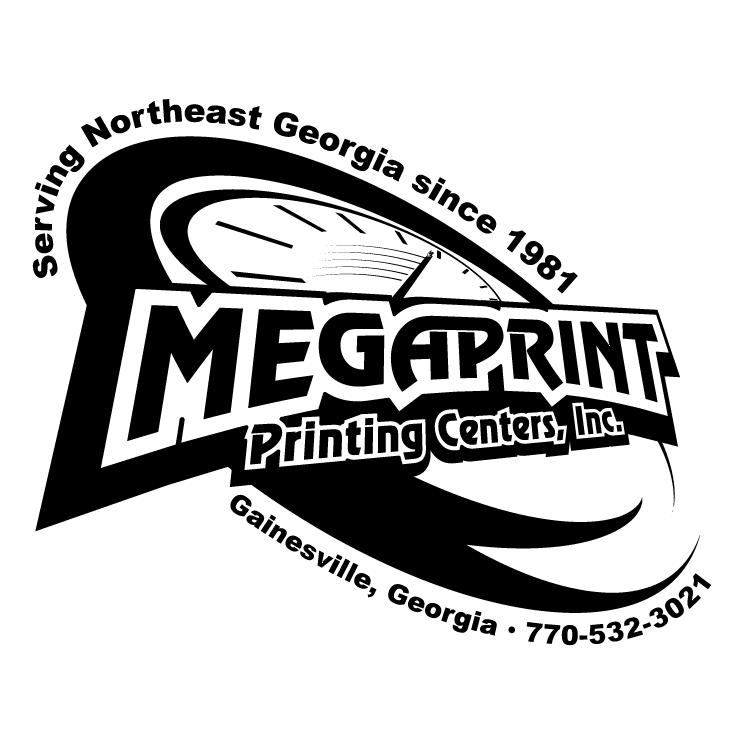 free vector Megaprint printing centers inc 0