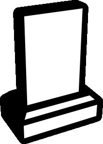 free vector Memorial Grave Sign clip art