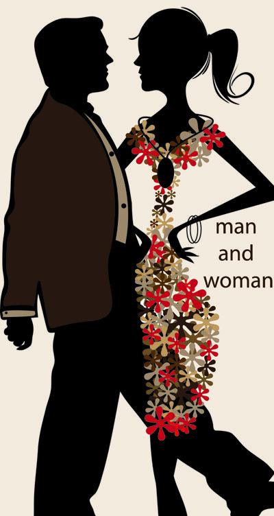 free vector Men and women vector