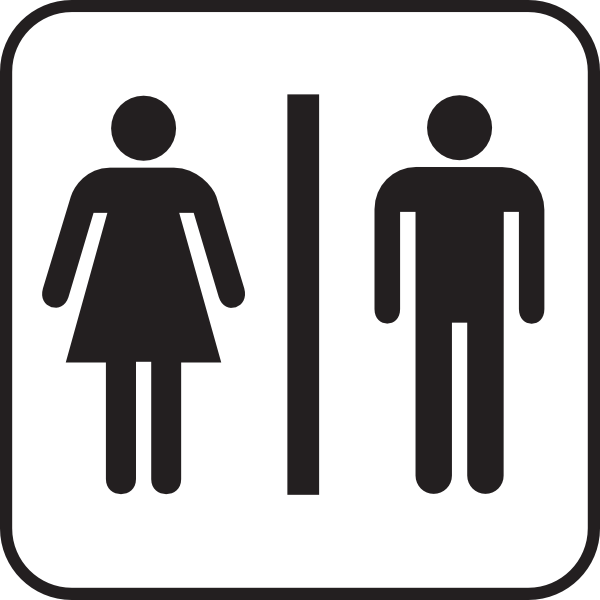 free vector Men Women Bathroom clip art