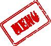 free vector Menu Rubber Stamp clip art