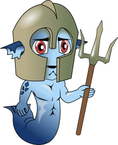 free vector Mermaid Man clip art