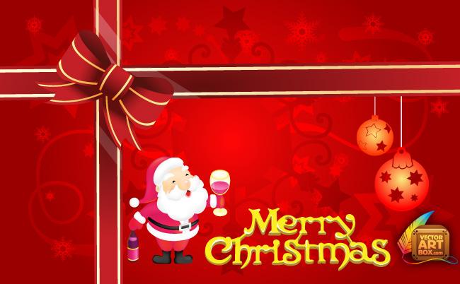 free vector Merry Christmas Card