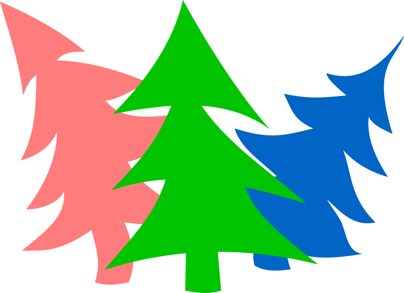 free vector Merry New-Year Firs by Rones