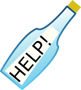 free vector Message In A Bottle  clip art