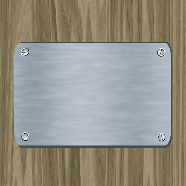 free vector Metal card vector