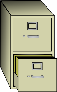 free vector Metal File Cabinet clip art