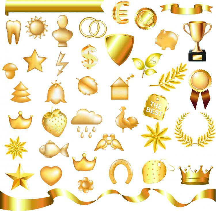 Metallic Jewelry Icon 02 Vector Free
