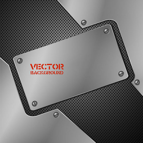 free vector Metallic stainless steel 01 vector