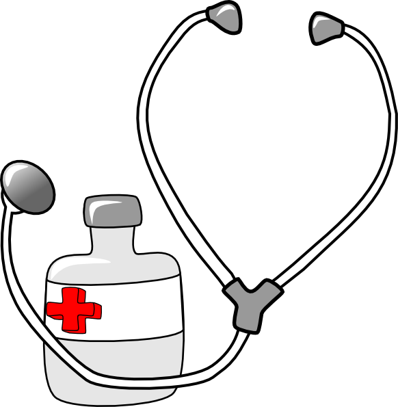 free vector Metalmarious Medicine And A Stethoscope clip art