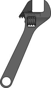 free vector Method Adjustable Wrench clip art