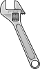 free vector Method Adjustable Wrench Icon Style clip art